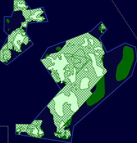 Map showing Stanton Banks Marine Protected Area and linking to the MPA mapper